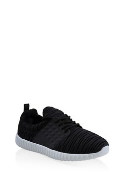 Burnout Athletic Sneakers - BLACK - 3114075795267