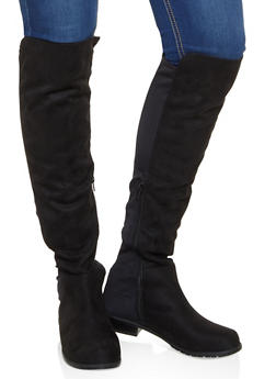 Over the Knee Stretch Panel Boots - 3116004064269
