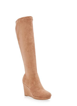 Wedge Boots with Side Zipper - CAMEL F/S - 3116004066291