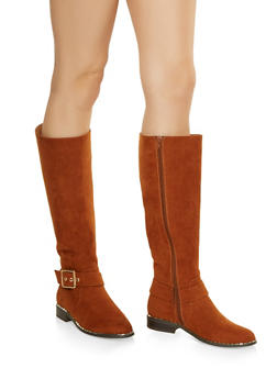 Studded Sole Boots - CHESTNUT - 3116004067337