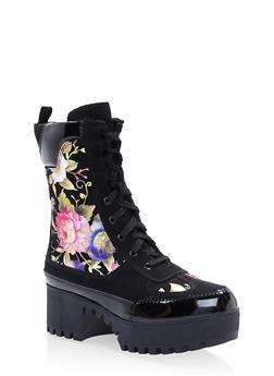 Platform Combat Boots - BLACK - 3116004067637