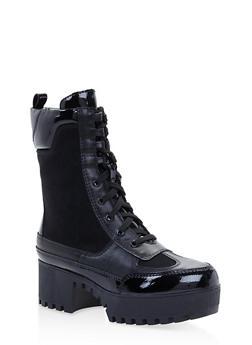 Platform Combat Boots - BLACK SUEDE - 3116004067637
