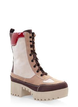 Platform Combat Boots - CAMEL S - 3116004067637