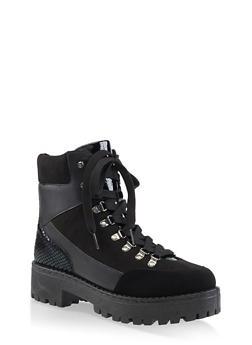 Platform Combat Boots | 3116004069455 - BLACK MULTI - 3116004069455