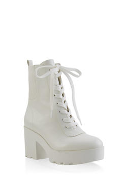 Platform Lug Sole Booties - 3116004069472