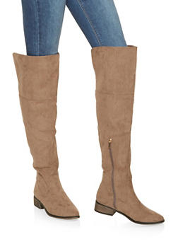 Over the Knee Boots - TAUPE - 3116014067529