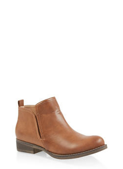 Side Gore Booties - CHESTNUT - 3116043678832