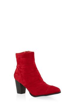 Mid Block Heel Booties - 3116043678922