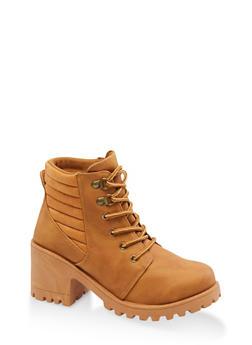 Lug Sole Work Boots - 3116056634548