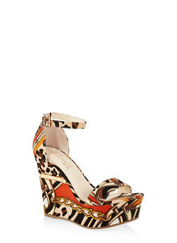 Ankle Strap Wedge Sandals | 3117004062464 - LEOPARD PRINT - 3117004062464