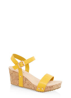 Single Band Cork Wedges - YELLOW - 3117004067978