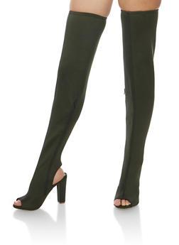 Thigh High Peep Toe Boots - 3118004065463