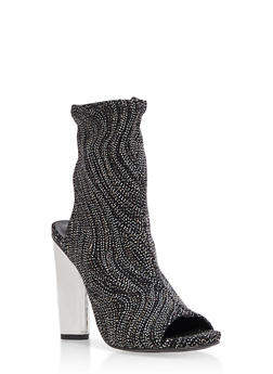 Open Toe Stretch Booties - 3118004067870