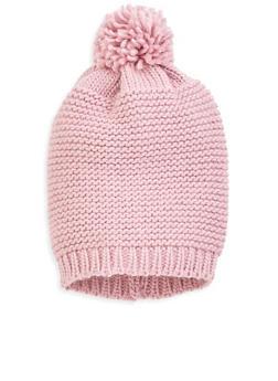 Knit Pom Pom Beanie - 3119067441547