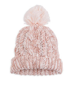 Shimmer Knit Pom Pom Beanie - 3119067444810