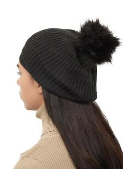 Pom Pom Knit Beanie - 3119067444815