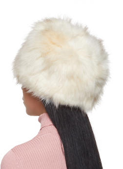 Faux Fur Hat - NATURAL - 3119067444817