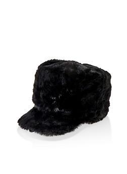 Faux Fur Cabbie Hat - 3119067444905