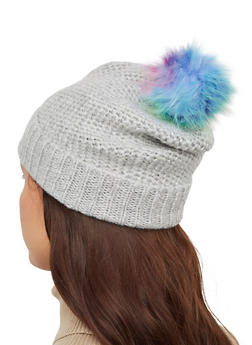 Multi Color Pom Pom Beanie - 3119067444916