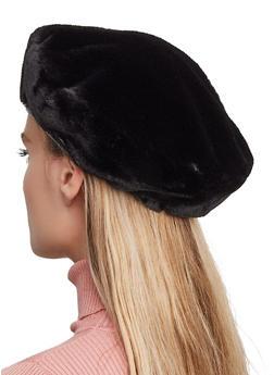 Faux Fur Beret - 3119067444918