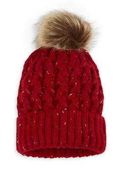 Pom Pom Knit Beanie - 3119071212014