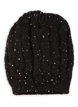 Sequin Knit Beanie - 3119071212016