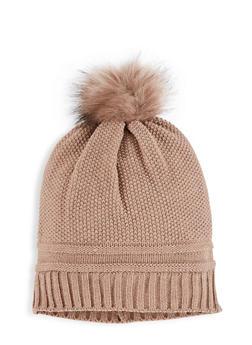 Pom Pom Knit Beanie - 3119071218021