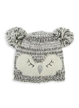 Double Pom Pom Owl Hat - 3119074391208