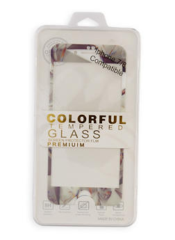 Colorful Tempered Glass Screen Protector Film | White - 3120066412131
