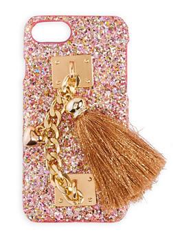 Glitter Chain Tassel iPhone Case - 3120066413682