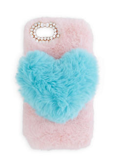 Faux Fur Heart iPhone Case - 3120066415487