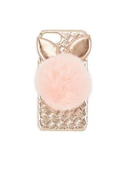 Bunny Pom Pom iPhone Case - 3120067448016