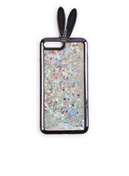 iPhone 8 Plus Glitter Bunny Case - 3120074391510
