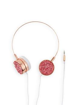 Metallic Druzy Headphones | Rose - 3120075126660