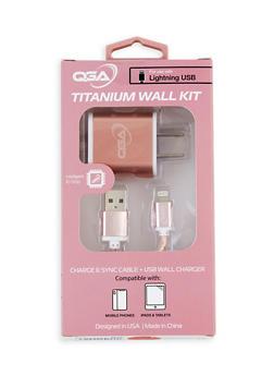 Titanium USB Wall Charger Kit | Rose - 3120075851002