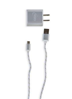 Charge and Sync Cable with USB Wall Charger - 3120075859996