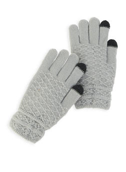 Textured Knit Gloves - 3121042740012