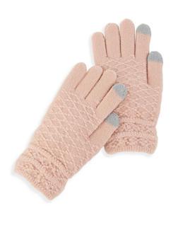 Textured Knit Gloves - 3121042740012
