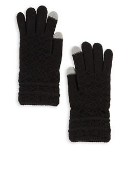 Diamond Knit Touchscreen Gloves - 3121042741219