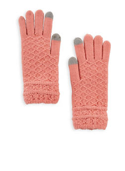 Diamond Knit Touchscreen Gloves - 3121042741219