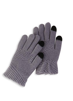 Textured Knit Gloves - 3121042741551