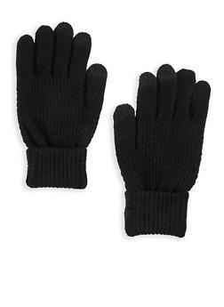 Popcorn Knit Texting Gloves - 3121067441025