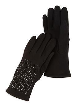 Fleece Lined Studded Gloves - 3121067442729