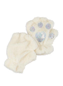 Sequin Fingerless Gloves - 3121067442805