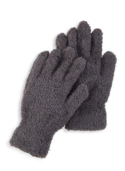 Fuzzy Knit Gloves - 3121067442807