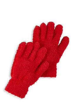 Fuzzy Knit Gloves - 3121067442807