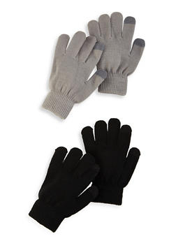 Set of 2 Touch Screen Gloves - GRAY - 3121067442808