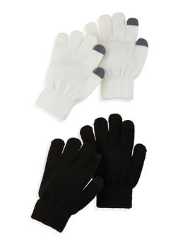 Set of 2 Touch Screen Gloves - IVORY - 3121067442808