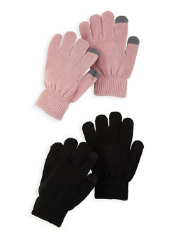 Set of 2 Touch Screen Gloves - MAUVE - 3121067442808