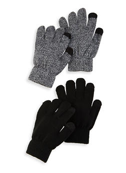 Set of 2 Touch Screen Gloves - MULTI COLOR - 3121067442808